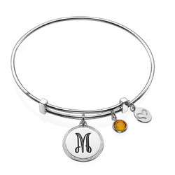 Initial Bangle with Charms product photo