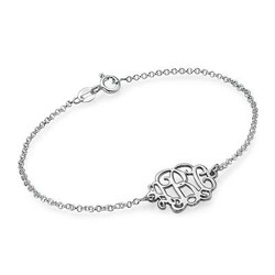 Sterling Silver Initials Bracelet / Anklet product photo