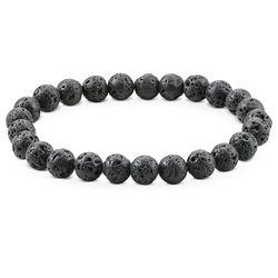 Lava Stone Men's Beaded Bracelet product photo