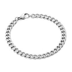 Men's Cuban Link Bracelet in Stainless Steel product photo