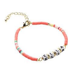 Coral Reef Name Bracelet In Gold Plating product photo