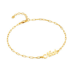 Custom Paperclip Name Bracelet/Anklet in Gold Plating product photo