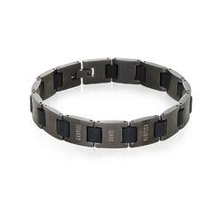 Edge Men's Bracelet in Black Stainless Steel product photo