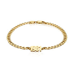 Thick Chain Name Bracelet in Gold Vermeil product photo