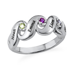Mother's Ring with Four Birthstones product photo