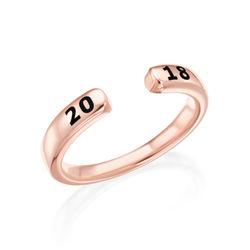 Custom Stacking Open Ring in Rose Gold Plating product photo