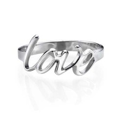 Sterling Silver Love Ring product photo