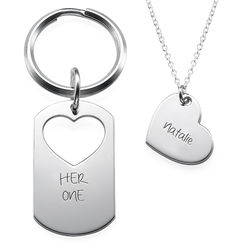 His Only + Her One Couples Jewellery Set product photo