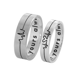 Heartbeat Couple Rings product photo