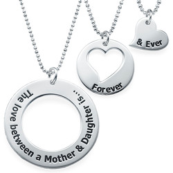 Mother Daughter Jewellery - Three Generations Necklace product photo