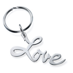 Sterling Silver Love Keyring product photo