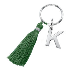 Personalised Keyring with Initial and Tassel product photo