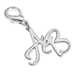 Silver Handbag/Purse Personalised Initial Charm product photo