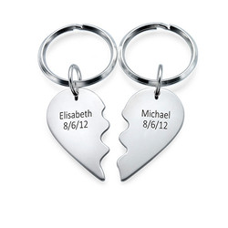 Breakable Heart Keyring in Sterling Silver product photo