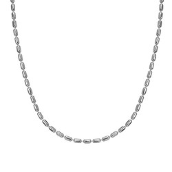 Cylinder Bead Chain - Silver product photo