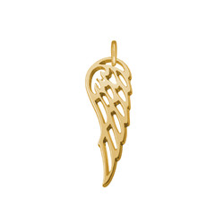 Angel Wing Charm - Gold Plated product photo
