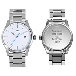 Odysseus Day Date Minimalist Stainless Steel Watch product photo