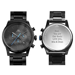 Quest Chronograph Black Stainless Steel Watch for Men product photo