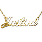 10ct Double Thickness Gold Name Necklace
