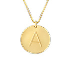 10ct Gold Initial Necklace