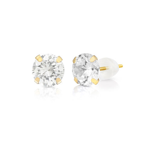 10ct Solid Gold Stud Earrings with Cubic Zirconia