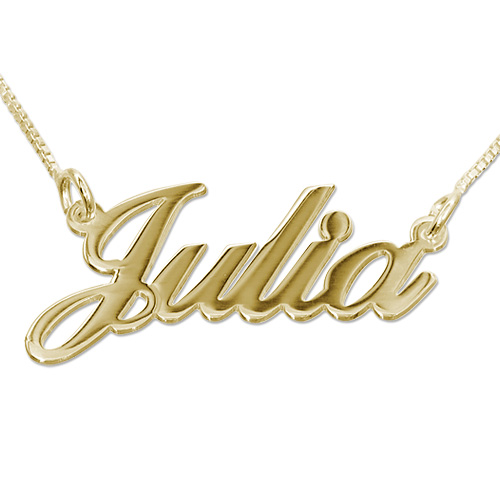 14ct Gold Double Thickness Classic Name Necklace