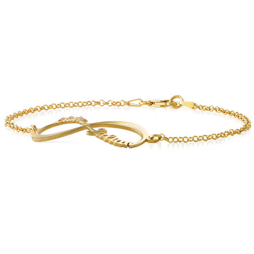 14ct Gold Infinity Bracelet with Names - 1