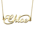 14ct Infinity Style Name Necklace