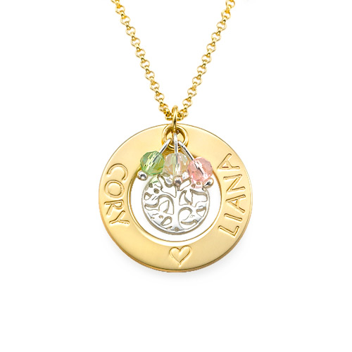 18ct Gold Plated Silver Tree of Life Necklace