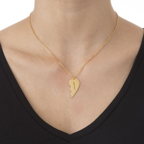 18ct Gold Plated Silver Breakable Heart Necklace - 2