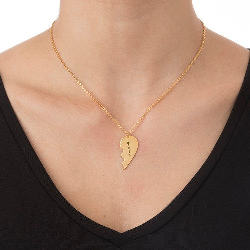 18ct Gold Plated Silver Breakable Heart Necklace - 3