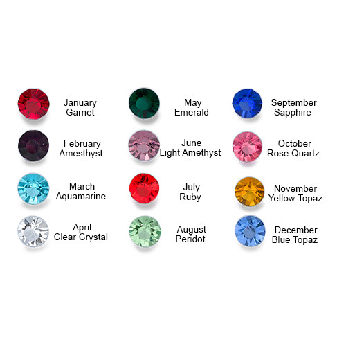 "5mm Birthstones for the ""Birthstone Charms Floating Locket"" - 1"