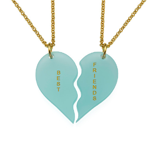 Acrylic Broken Heart Necklaces for couple