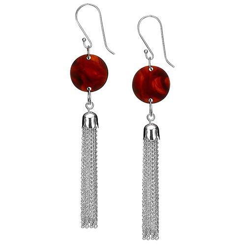Acrylic Tassel Earrings