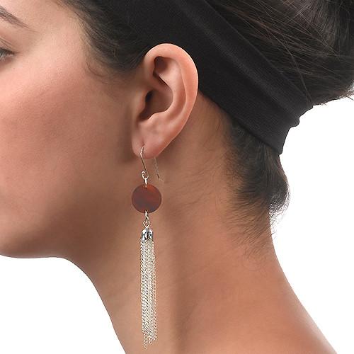 Acrylic Tassel Earrings - 1