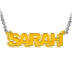 Stylish Colour Name Plated Necklace