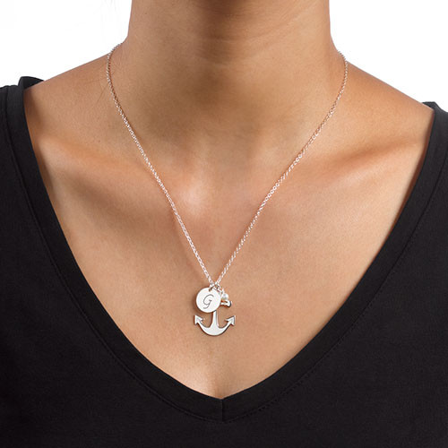 Anchor Jewellery with Initial Charm - 2