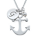 Anchor Jewellery with Initial Charm