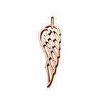 Angel Wing Charm - Rose Gold Plated