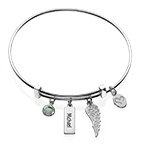 Angel Wing Charm Bangle