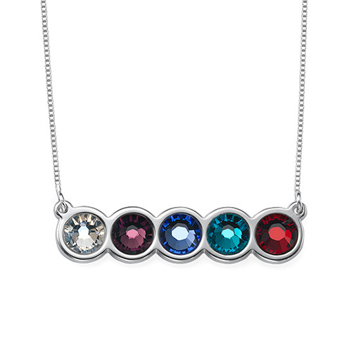 Birthstone Bar Necklace - 1