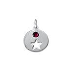 Birthstone Charm - Silver