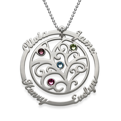 Birthstone Family Tree Necklace - My Eternal Love Collection