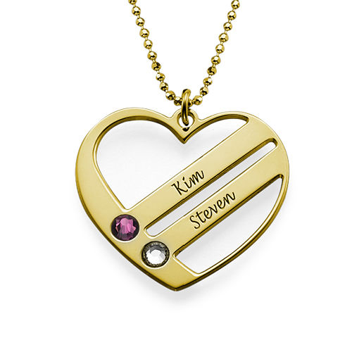 Gold Plated Engraved Necklace - 1