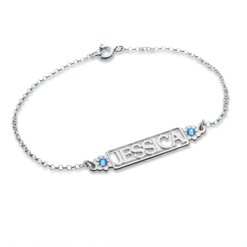 Birthstone Name Bracelet - 1