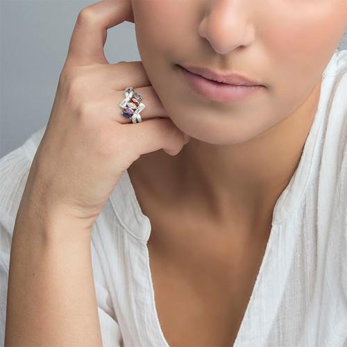 Birthstone Ring for mum - 2