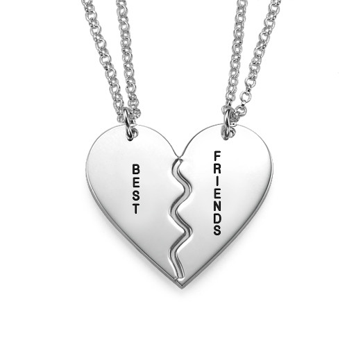 """Breakable Sterling Silver """"BFF Necklaces"""""""
