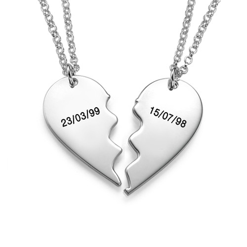 """Breakable Sterling Silver """"BFF Necklaces"""" - 1"""