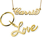 Carrie Necklace & Love Keyring Set