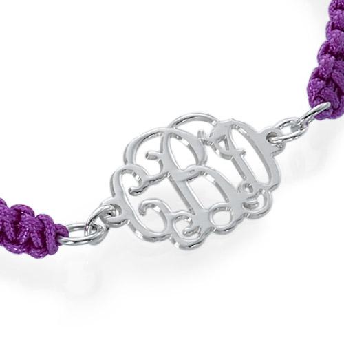 Celebrity Monogram Cord Bracelet - 1
